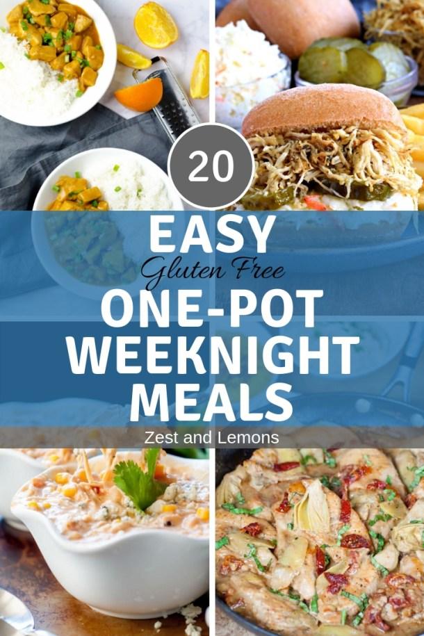 20 Easy Gluten Free On-Pot Weeknight Meals - Zest and Lemons