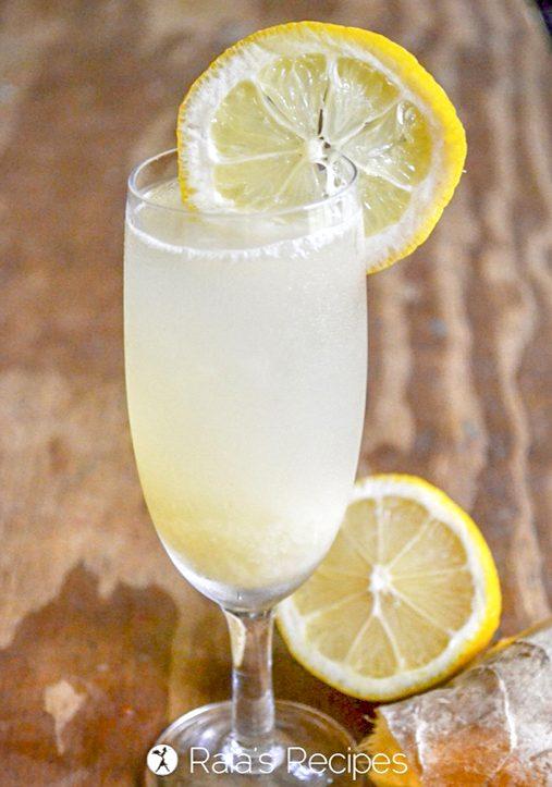 Fizzy ginger lemonade by Raias Recipes