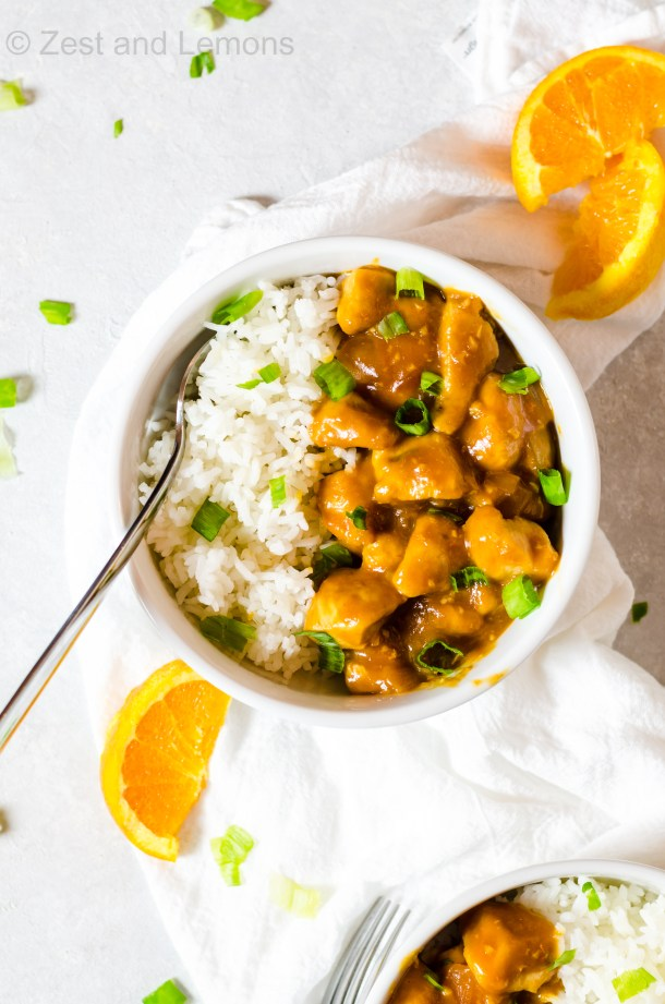 Gluten free skillet orange chicken - Zest and Lemons