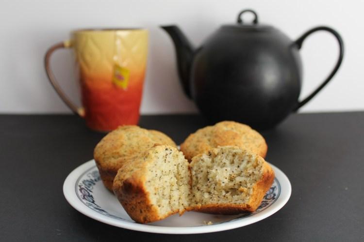 earl grey and lemon muffins