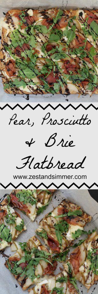 Pear, Prosciutto & Brie Flatbread Pinterest Image