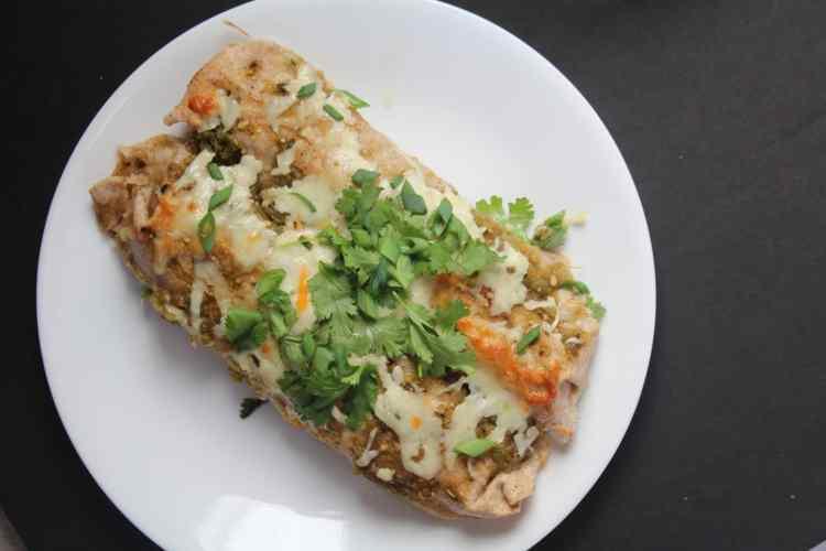 Green Chili Chicken Enchiladas