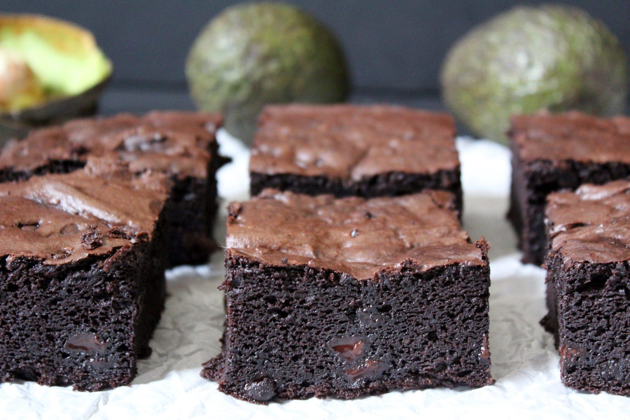 Dark Chocolate Avocado Brownies Zest Simmer