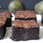 Dark Chocolate Avocado Brownies - fudgy dark chocolate avocado brownies are a healthier option full of healthy fats and antioxidants, yet all the delicious taste of the classic brownie!