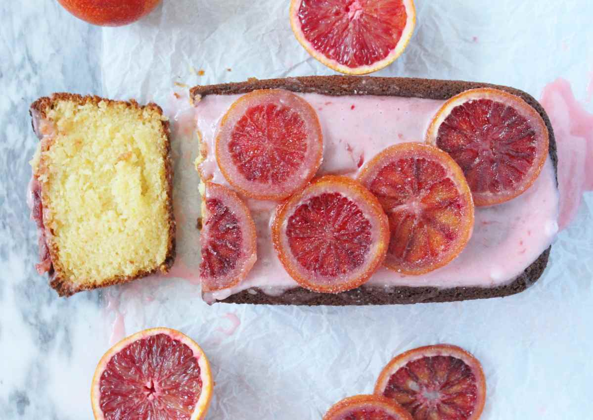 Blood Orange Ricotta Cake