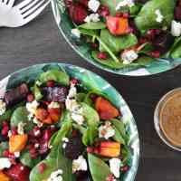 Beet, Sweet Potato and Goat Cheese Salad with Citrus Balsamic Vinaigrette