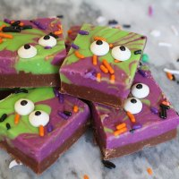 Halloween Monster Mash Fudge