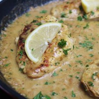One Skillet Creamy Lemon Pepper Chicken