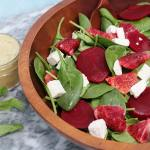 Blood Orange & Beet Salad - a bright and fresh salad with roasted beets, blood orange segments, feta and a homemade blood orange mint vinaigrette.