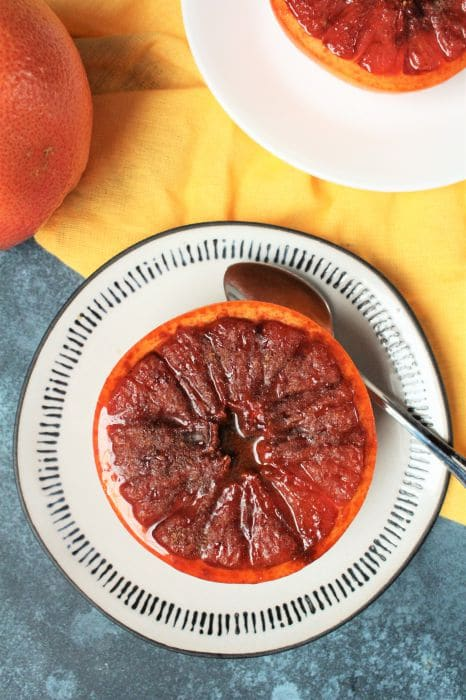 broiled rum spice grapefruit