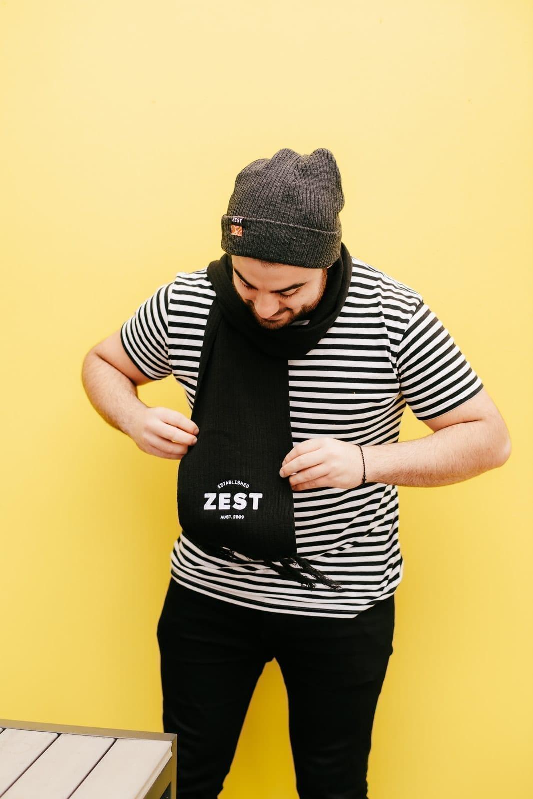 Zest Warm Knit scarf – Black