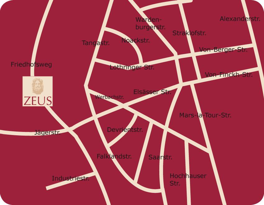 Fussgangerzone Oldenburg Karte.Zeus Cafe Restaurant Bar Friedhofsweg 15 Oldenburg