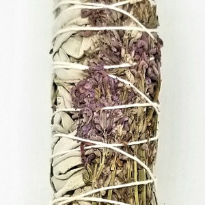 Royal Lavender is calming, peaceful & relaxing. It helps to de-stress a space & to clear the bedroom for restful sleep. (I also use it to smudge clients to help them open up) It creates tranquility, gentle joy, opens the brow or 3rd eye chakra & clears negative energy. Also known as Bee or Californian Sage. This sage has a strong, in-your-face-scent. I liken it to Steel wool. It cleanses everything, houses, businesses, people, don't forget the garage. Chakra: Throat Chakra