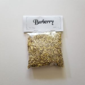 """Barberry root bark also known as berberis vulgaris, European barberry, Pepperidge Bush, or Wood Turmeric. Native to Europe, Asia and Africa commonly from a hedge plant. Used to make a dye tint for cotton, wool, and leather. In magic it is referred to as """"witches sweets"""" and can aid you in cleansing, sorcery and freeing yourself from the control of others. 1oz in cut form with no noticeable scent to be stored in an airtight container in a cool, dry place"""