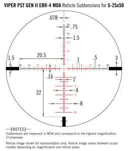 PST-5251 Vortex Optics Viper PST Gen II 5-25x50 SFP with EBR 4 Reticle (MOA) 4