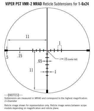 PST-1607 Vortex Optics Viper PST Gen II 1-6x24 Riflescope with VMR-2 Reticle (MRAD) - Slightly Used 1