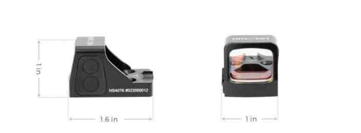 Holosun HS407K Red Dot / Circle Dot Reflex Sight With Shake Awake 1