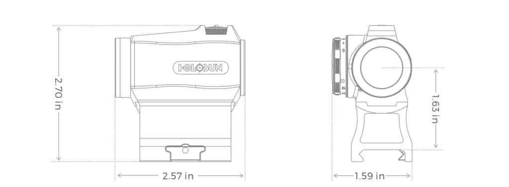 Holosun HE403R-GD Gold Dot / Circle Dot Micro Sight With Rotary Switch - easy to install and operate 1