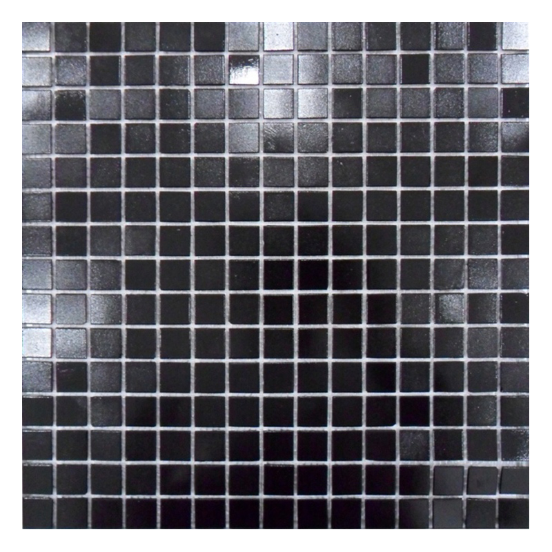 black glass mosaic tiles swimming pool