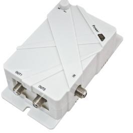 Megasat V1 wzmacniacz 1we./2wyj. 5/20dB