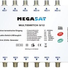 Multiswitch MEGASAT 5/12 +zasilacz