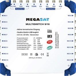 Multiswitch MEGASAT 9/16 + zasilacz