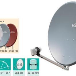 Antena SAT aluminiowa POLYTRON OSP 85 czerwona