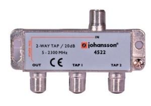 2 WAY TAP OdgałęŸnik 2-krotny Johansson 20 dB 4522