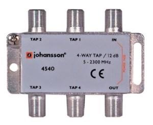 4 WAY TAP OdgałęŸnik 4-krotny Johansson 12 dB 4540