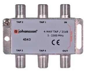 4 WAY TAP OdgałęŸnik 4-krotny Johansson 25 dB 4543