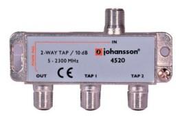 2 WAY TAP OdgałęŸnik 2-krotny Johansson 10 dB 4520