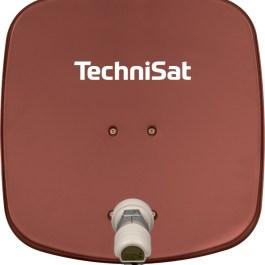TechniSat DigiDish 45 naMaszt +LNB Single czerwona