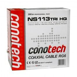 kabel RG6U CU Conotech NS 113TRI-HQ Pulbox 300m