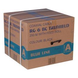 Kabel RG6U BC Trischield (Karton 250mb) -Czarny PE