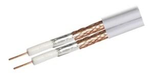 Kabel RG6 Revez CT63 Twin pełna miedŸ biały 20m