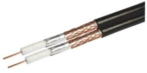 Kabel RG6 Revez CT63 Twin pełna miedŸ czarny 50m