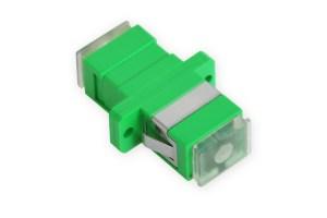 Adapter optyczny SC APC simplex przezroczysty