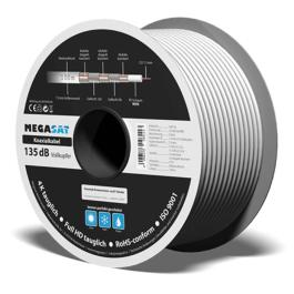Kabel Megasat Quad Shield RG6 - 135dB 0,9 CU 100m