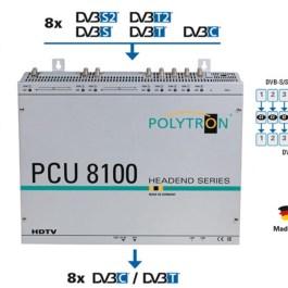 Stacja POLYTRON PCU 8112 8xS2/T2/C na 8x DVB-C CI