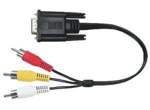 kabel SPM-D3RCA D-SUB / 3RCA 2m