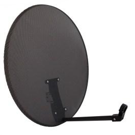 Antena SAT 80cm Corab ASC-800 PERFOROWANA Grafit