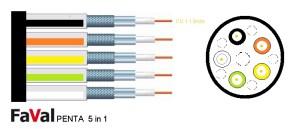 Koax-Kabel Faval Penta 5 in 1 /1mb./