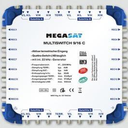 Multiswitch kaskadowy Megasat 9/16 C