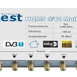 Multiswitch BEST HQMS 5/12 + Zasilacz Impulsowy