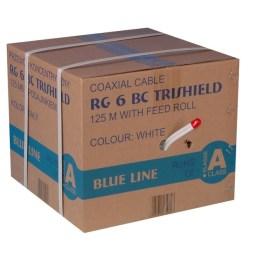 Kabel RG6U BC Trischield Twin (Karton 125mb)