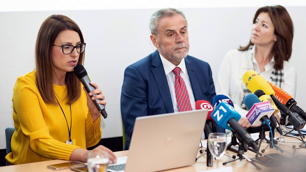 mia pećina drašković, milan bandić i martina bienenfeld / zagrebački filmski ured / 2020.