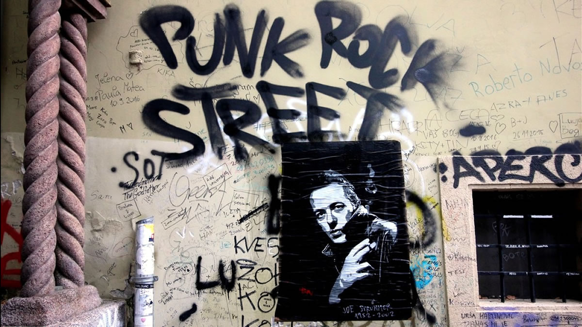 joe strummer / punk rock street zagreb 2019