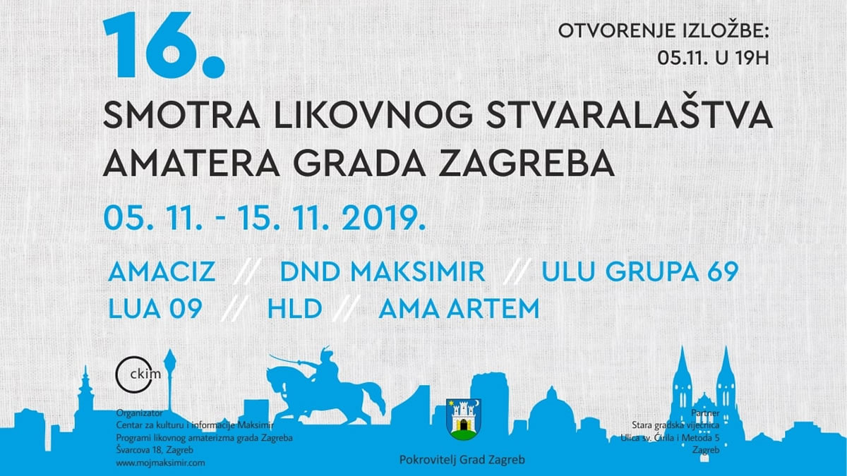 16. smotra likovnog stvaralaštva amatera grada zagreba 2019