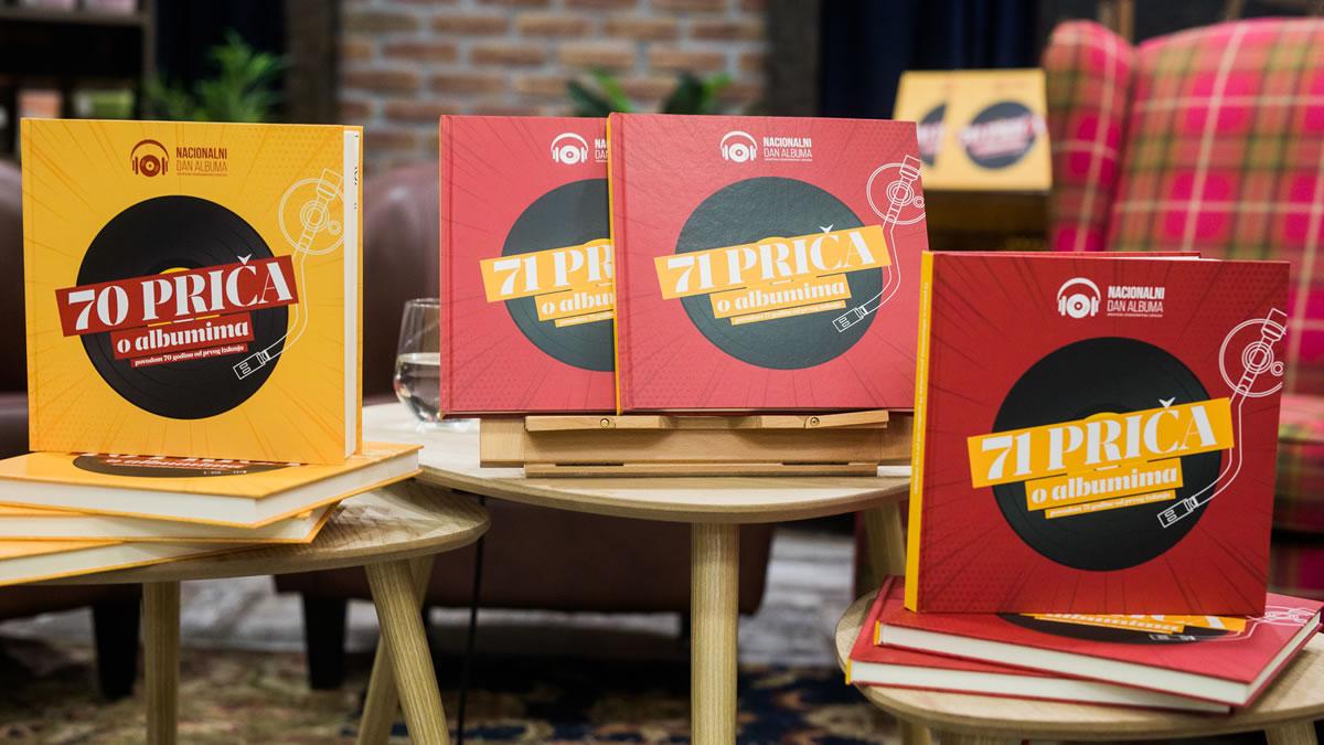 """knjiga """"71 priča o albumima povodom 71 godine od prvog izdanja"""" 2019"""