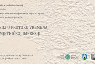 """izložba """"Fosili u protoku vremena i umjetničkoj impresiji"""" u Hrvatskom prirodoslovnom muzeju"""